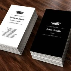 The Most Popular Black and White Business Cards | Bizcardstudio.co.uk
