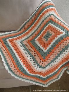 ergahandmade: Crochet Blanket + Diagram + Videos