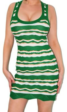 This sexy sweater knit mini dress Stretchy and a lightweight knit fabric. Sexy low cut dress in zig zag print. Fabric is acrylic/spandex.   Very cute and casual party dress. Free ship in the U.S.A.