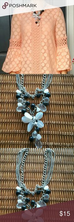 Beaded Statement Necklace Beautiful beaded necklace with glass and lucite beads. Jewelry Necklaces