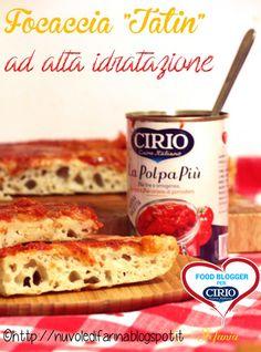 """Ricetta #Focaccia """"Tatin"""" ad alta idratazione di @nuvoledifarina (http://nuvoledifarina.blogspot.it/) #cirio #passionefoodblogger #pomodoro #pomodori #tomato #PullUpAChair"""