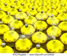 Yellow Glass Christmas