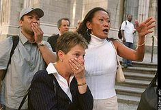 9/11 horror.  These faces reflected much of what so many of us felt.  The shock, the disbelief and the abject horror.