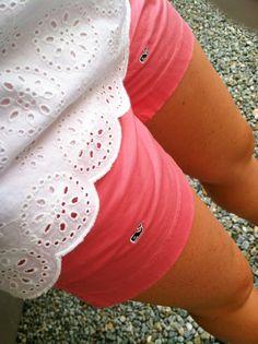 the scalloped shirt and vinyard vines shorts♥  TheOriginalPrep