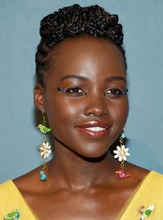 Lupita Nyong'o Photos - Lupita Nyong'o attends the Annual Accessories Council ACE Awards at Cipriani Street on June 2018 in New York City. - Accessories Council Celebrates The Annual ACE Awards - Arrivals Black Braided Updo, Black Braids, Rave Music, Emma Stone, Vanessa Hudgens, Burning Man, Rave Make Up, Edm, Makeup Black