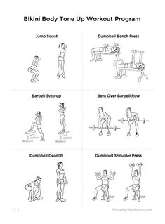 Bikini Body Tone Up Printable Workout Plan for Women | WorkoutLabs