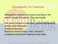 Practical Life Tips For You And Me: #Homeopathy #Remedies for #Insomnia