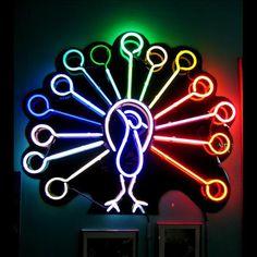 'Rainbow peacock' Neon, 1999 by Artistic Neon Inc.