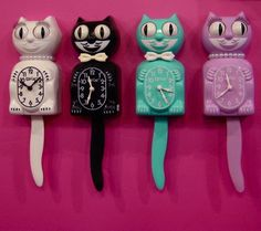 Kitschy kitty clocks