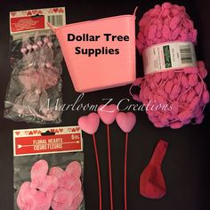 Create a Valentine's Day Hot Air Balloon using these supplies from Dollar Tree.