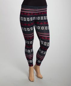 With their darling pattern and soft knit design, these leggings showcase sensational style. Made with a stretchy fabric, they'll add fashionable flair to a comfortable ensemble.