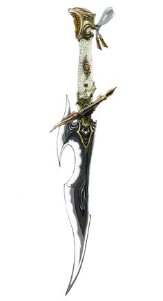 View an image titled 'Ninja's Nagi Art' in our Final Fantasy XIV: Stormblood art gallery featuring official character designs, concept art, and promo pictures. Fantasy Blade, Fantasy Dagger, Fantasy Sword, Final Fantasy Xiv, Final Fantasy Weapons, High Fantasy, Ninja Weapons, Anime Weapons, Weapons Guns