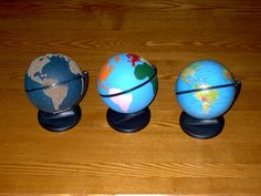 I skipped the first globe (land and water) but did the second (continents). Having the continents painted the same color as the continents on a flat map has helped Eliza visualize and identify the continents. She can even identify some of them on a non-painted globe. Great idea...will save the painted globe for Jacie.