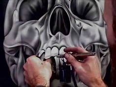 Airbrushing a Chrome Skull-Stage 2
