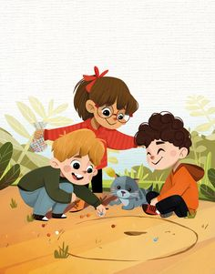 Cute Little Drawings, Art Drawings For Kids, Drawing For Kids, Cartoon Drawings, Cute Drawings, Cartoon Art, Children's Book Illustration, Character Illustration, Kleiner Muck