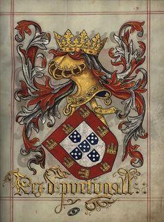 Livro do Armeiro-Mor, Armas do Rei de Portugal (fl 10r)