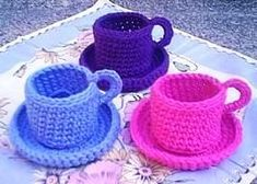 Free Amigurumi Patterns: Crochet Teacups no pattern available