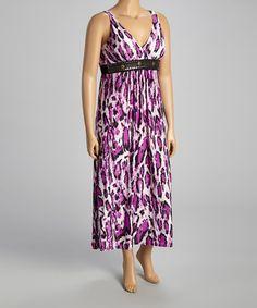 Look at this #zulilyfind! Purple Leopard Studded Maxi Dress - Plus by Shoreline #zulilyfinds