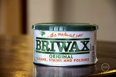 stains scratches on wood.  Wax your old furniture with this and it will look new again!
