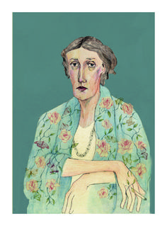 """To look life in the face, always, to look life in the face, and to know it for what it is...at last, to love it for what it is, and then to put it away."" ― Virginia Woolf Bett Norris Illustration"