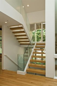 not so much the glass, but definitely the open-ness of the treads...