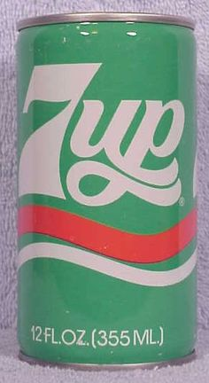 7UP Logo, 1977 - Must Be A West Coast Can Or From The Great White North? I Know It Was Not Around The Nations Capital Metro Area! Cool Design! Wish We Did Have It!