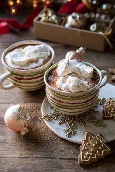 Vanilla Mocha Hot Cocoa Half Baked Harvest - Keeping Warm This Season With My Favorite Vanilla Mocha Hot Cocoa Steamed Milk Sweet Chocolate Hints Of Coffee And Spiced With Real Vanilla This Is Creamy Rich Perfectly Sweet And Best Enjoyed Hot Chocolate Recipes, Vegetarian Chocolate, Chocolate Smoothies, Chocolate Shakeology, Matcha Tee, Plat Vegan, Christmas Hot Chocolate, Half Baked Harvest, Halloween Drinks