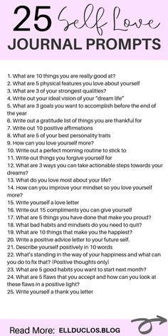 25 journal prompts for self love and confidence building! How to love yourself again through journaling. A self love journey. love journal 25 Journal Prompts for Self-Love and Confidence Building Vie Positive, Positive Affirmations, Journal Questions, Therapy Journal, Love Journal, How To Journal, Happy Journal, Mental Health Journal, Vie Motivation