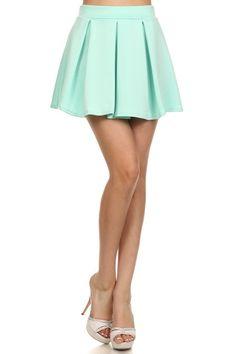 Perfect Ten Skater Skirt in Mint