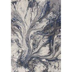 "Kaia Gray Watercolors Area Rug, 7'10"" x 10'10"" $300"