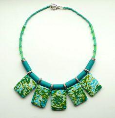 Polymer and glass bead necklace | Flickr - Photo Sharing! bridget derk