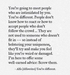 You're different. ➖➖➖➖➖➖➖➖➖➖➖➖➖➖➖➖➖➖ Follow: @knowledge_1s_power @thetruthside➖➖➖➖➖➖➖➖➖➖➖➖➖➖➖➖➖➖ Turn on post notifications! ➖➖➖➖➖➖➖➖➖➖➖➖➖➖➖➖➖➖ #motivation #inspiration #wisdom #love #igers #instagood #instadaily #read #books #knowledge #success #poetry #friendship #quote #quotes #picoftheday #entrepreneur #lovequote #lifequote #mind #business #fashion #fitness #quoteoftheday #l4l #style #luxury #beauty #change