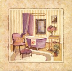 Romantic Bath I (Charlene Winter Olson)