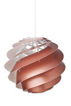 Le Klint Swirl 3 Pendelleuchte, Swirl 3 M (medium), kupfer Le KlintLe Klint Loft Design, Designer, Ceiling Lights, Lighting, Handmade, Home Decor, Quelque Chose, Products, Pictures