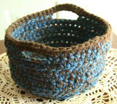 crochet basket | Crocheted Basket - great tutorial | Crochet for Home