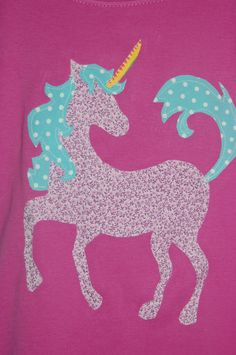 Unicorn image for appliqué - perfect for granddaughter's Once Upon A Time birthday quilt
