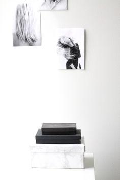 muotoseikka\ Omin käsin: Marmorinen laatikko / DIY: Marble box