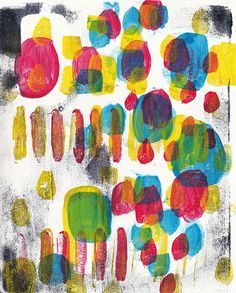 abstract-3-TA a print from lesson 2 of Carla Sonheim's online gelli plate course.