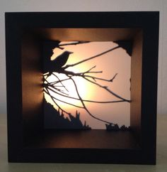Shadow box made with a Cameo