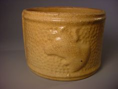 Yellow Ware butter crock