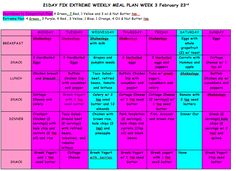 21 Day Fix Extreme Meal Plan, 21 Day Fix Extreme Countdown to Competition Meal Plan, Clean Eating Weekly Meal Plan