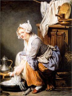 1761 Jean-Baptiste Greuze - La blanchisseuse