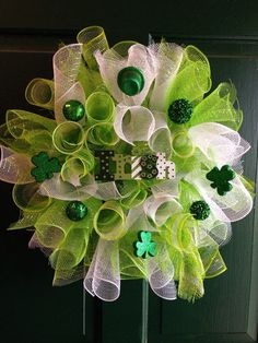 Saint Patricks Day wreath St Patricks day decor by FunWithWreaths, $20.00