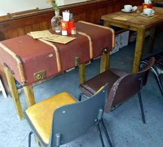 ideas for Old Suitcase Vintage Luggage | Suitcase table,, Seven at Brixton, Unit 7, Market Row, Brixton, London ...