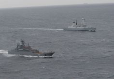 In another example of routine work for Fleet Ready Escort,HMS Dragon tracked & met up with Russian task group off coast of Brest as entered English Channel on Wednesday to sail north.HMS Dragon, one of Royal Navy's most technically advanced warships,able to pinpoint & monitor movement of 7-strong group led by Russian aircraft carrier Admiral Kuznetsov as approached UK.