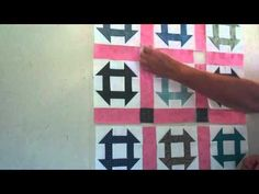 Pie Plate's Tutorial Tuesday 10/25/11 Beg. Quilting #22 Block Setting II Simple Sashing - YouTube