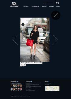 Fashion Web Design by Enes Danış, via Behance