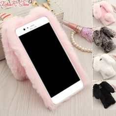 >> Click to Buy << Cases For Huawei P10 Cover,Rabbit Fur Hairy Soft TPU Back Coque for fundas huawei P10 Plus Rabbit ears Keep warm Pink&Gray&Brown #Affiliate