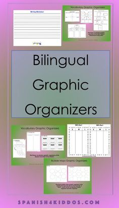Discover the best bilingual graphic organizers • Spanish4Kiddos