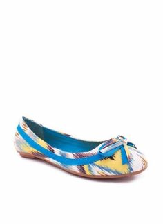 multicolor bow front flat